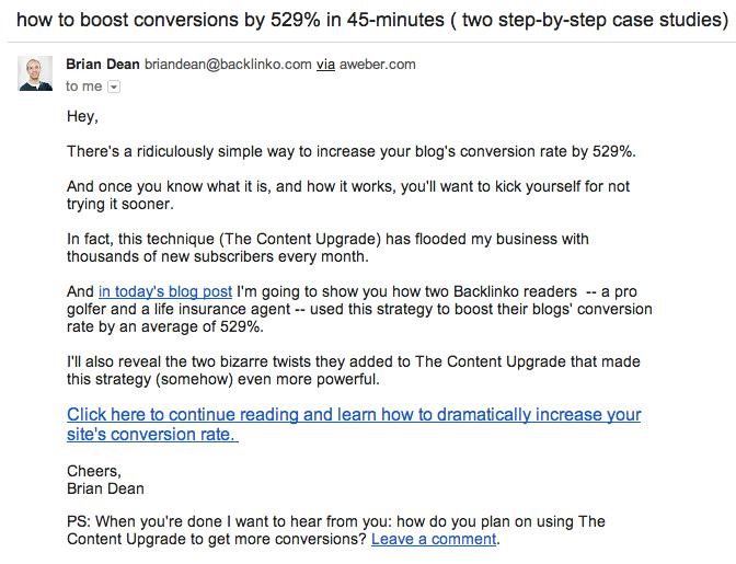 Backlinko email