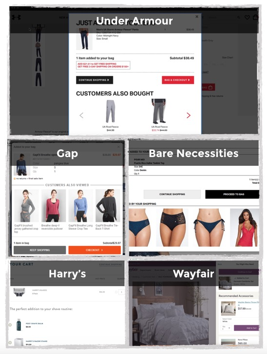 ecommerce upsell cross sell examples