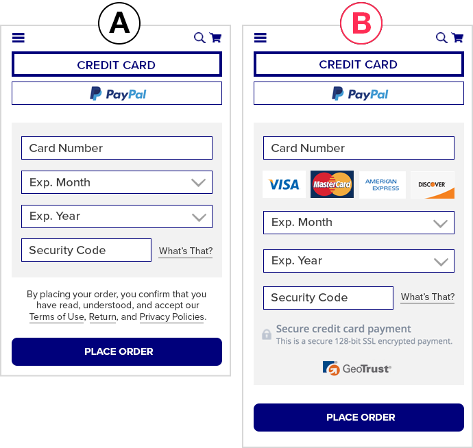 mobile cart creditcards
