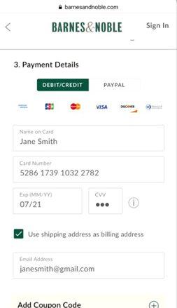 Barnesandnoble.com Payment