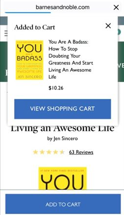 Barnesandnoble.com Shopping Cart