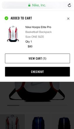 Nike Checkout Process