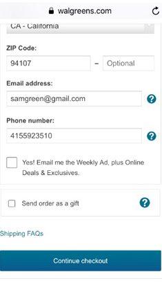 Walgreens.com Shipping