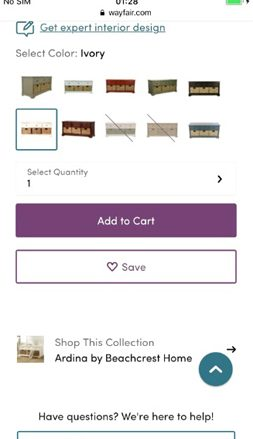 Wayfair checkout process