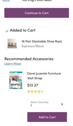 Wayfair.com Add To Cart