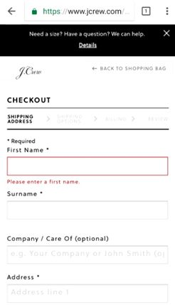 jcrew guest checkout